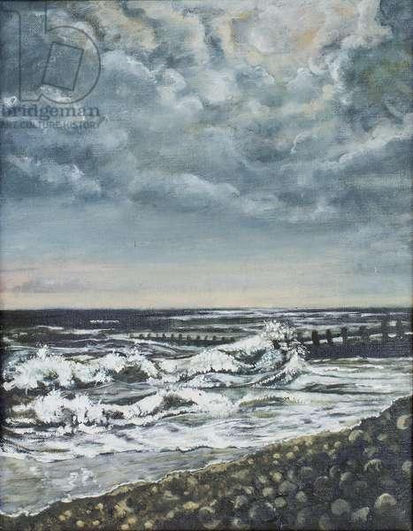 Bracklesham Bay: Evening, 1994 (oil on canvas)