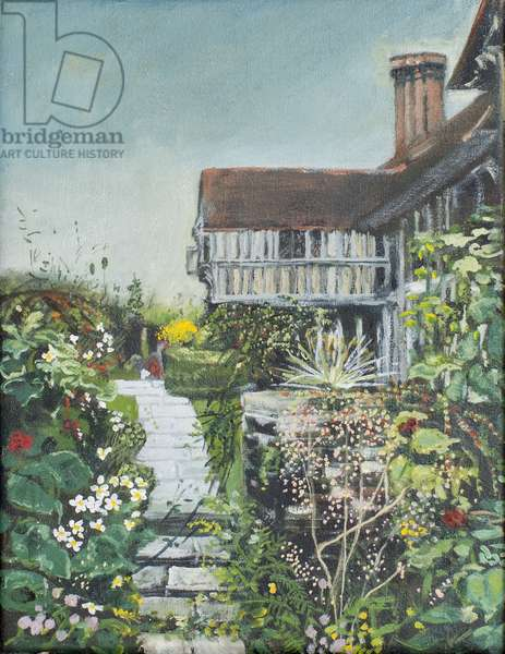 Great Dixter: the Long Border, 2005 (oil on canvas)