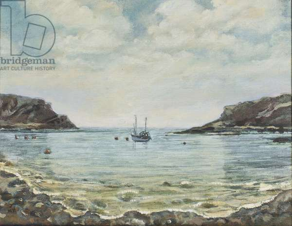 Lulworth Cove,1997 (oil on canvas)