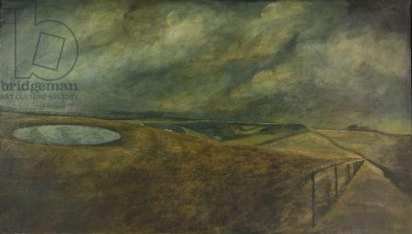 The Dewpond on the Height, 1997 (oil on canvas)
