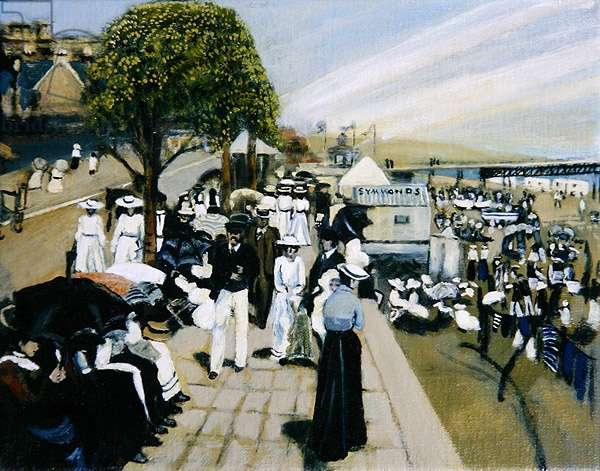 Holiday Crowds at Ryde, 2008 (oil on canvas)