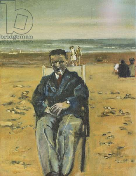 Albert on Rhyl Beach, 2008 (oil on canvas)