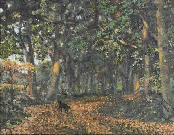 The Woodland Paths are Dry, 2003 (oil on canvas)