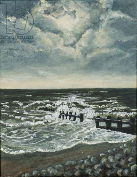 Moon and Breakwater,1997 (oil on canvas)