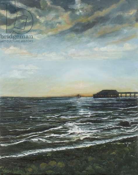 Brighton Pier: Sunset, 1996 (oil on canvas)