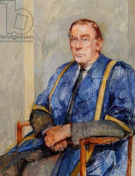 Sir Brynmor Jones (gouache on paper)