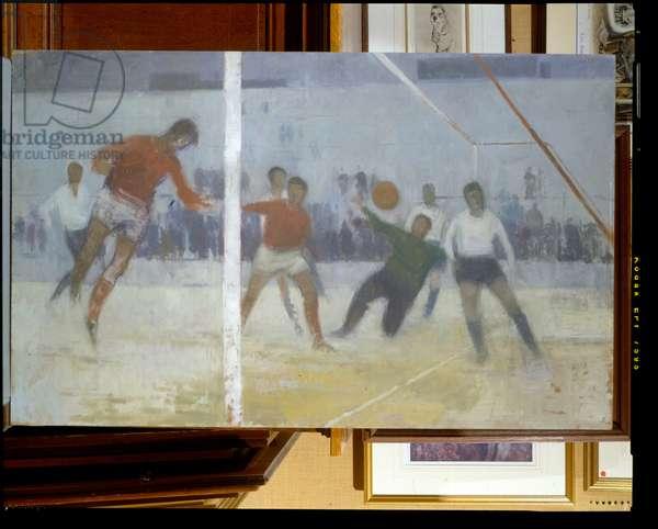 Football, 1963 (oil on board)