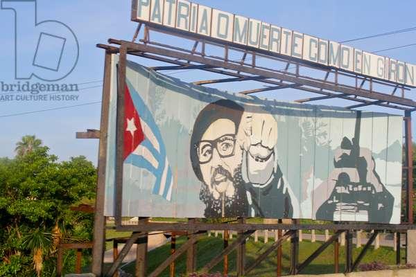 Billboard, Havana, Cuba (photo)