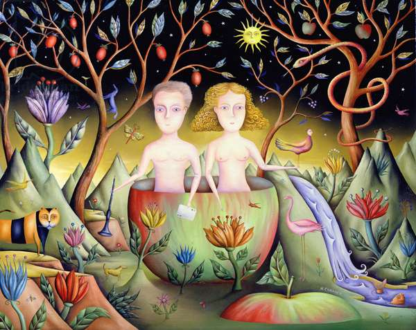 Children of the Crystal Garden, 2005 (oil on canvas)