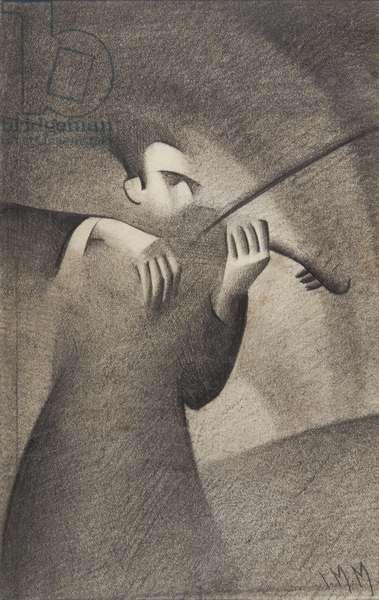 Violinist, 1932 (pencil on paper)