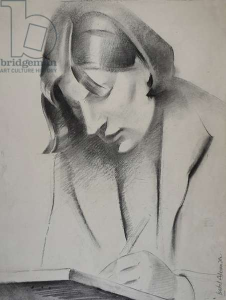 Pamela, fellow Slade student, 1936 (charcoal on paper)
