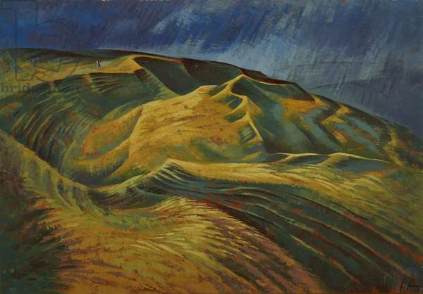 Maiden Castle 1, c.1970 (oil on canvas)
