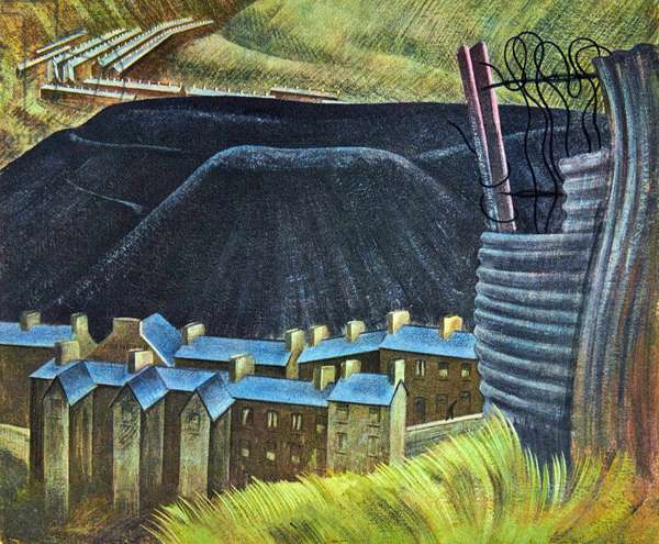 Rhondda, c.1944 (gouache on board)