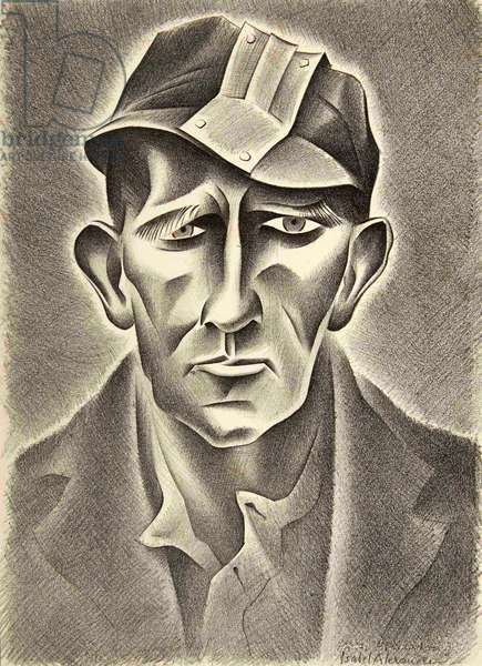 Tom, Suffering from Nystagmus, 1944 (litho)