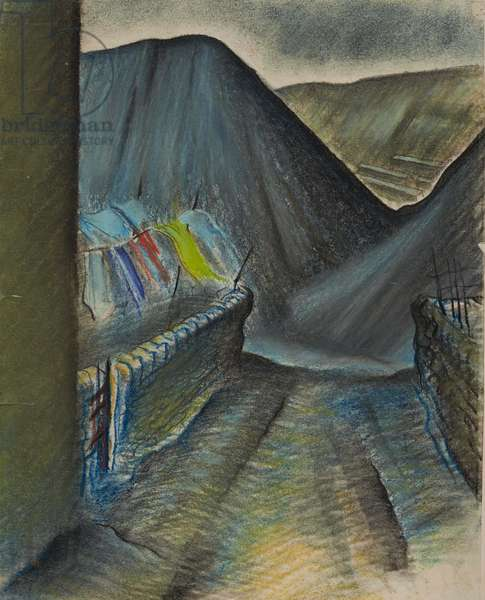 Washday, 1944 (pastel on paper)