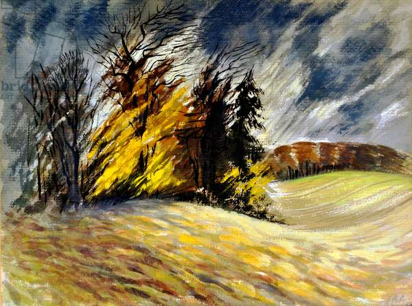 North Essex Landscape 3, c.1950 (w/c on paper)