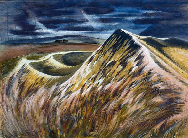 Maiden Castle 2, c.1970 (gouache on paper)