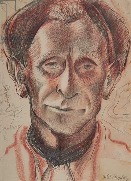 Harry, Cotswolds Farm Worker, 1953 (conté & pencil on paper)