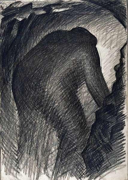 Coal Face, Blaencwm, c.1943 (conté)