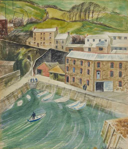 Mevagissey, c.1982 (w/c on paper)
