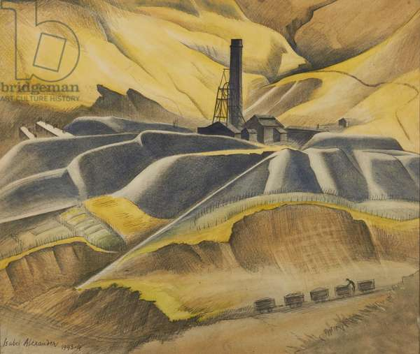 Blaencwm Colliery from the Mountain, c.1943 (w/c on paper)