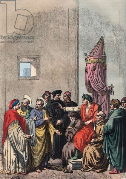The Apostles Peter and Paul quarrelling with Simon Magus infront of Emperor Nero