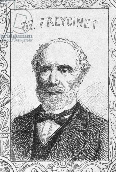 Portrait of French general Charles de Freycinet, Franco Prussian War