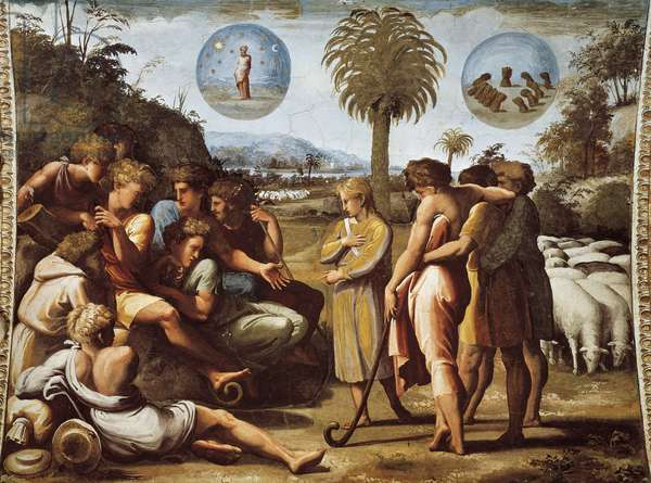 Joseph explains his dreams to his brothers, 1518-1519 (fresco)
