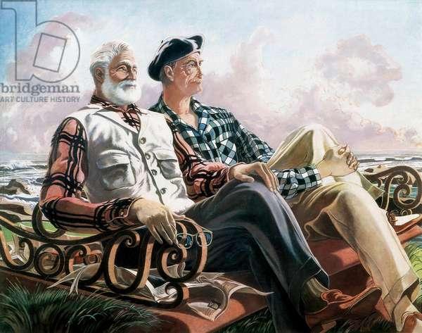 Conversation Piece, Just Leisure or Hemingway and Dunabeitia, 1957