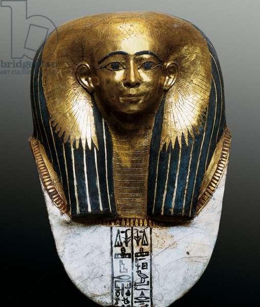 Funeral mask, Sarcophagus of princess, Detail, New Kingdom, Dynasty XX