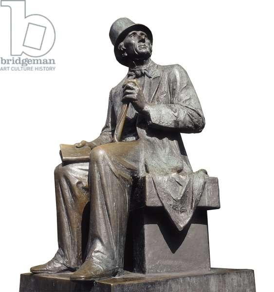 Portrait of Hans Christian Andersen (1805-1875), 1965 (bronze sculpture)