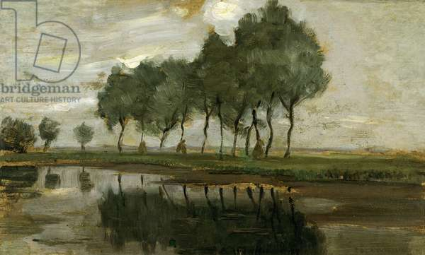 Landscape of trees near Gein, 1907 (Painting)