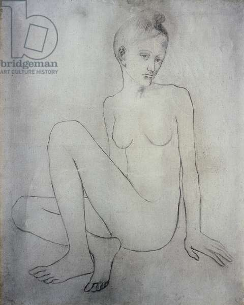"""Nude with crossed legs"" or ""Nude Madeleine"", 1905 (charcoal on canvas)"