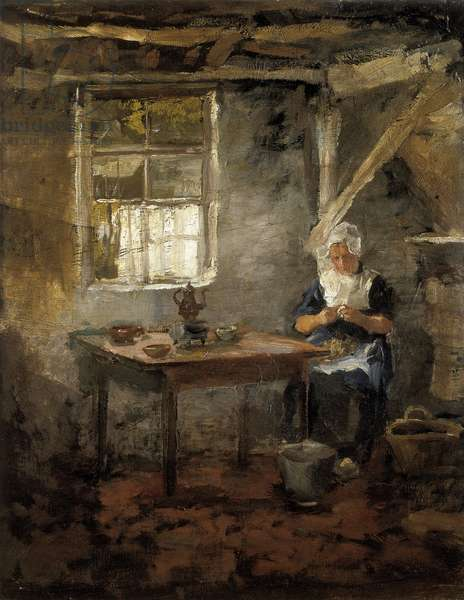Woman in a Dutch interior , 1899 (oil on canvas)