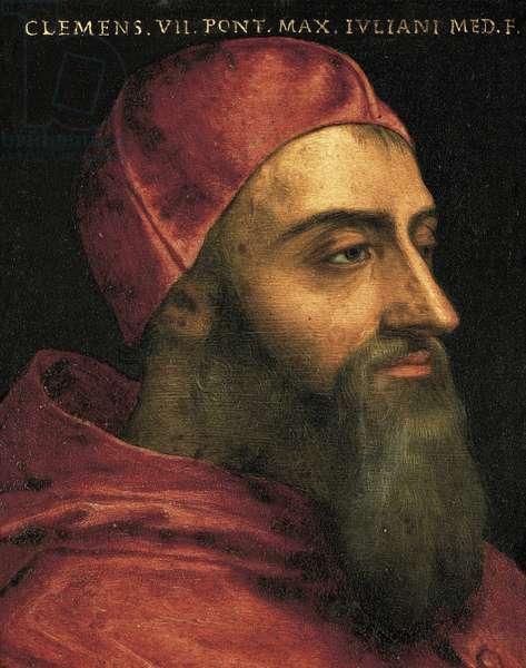 Portrait of the Pope Clement VII (Jules de Medicis) nomme pape sous le nom de Clemente VII (1478-1534)