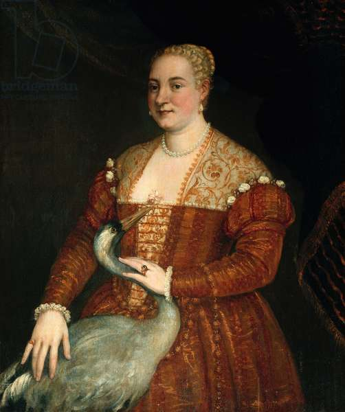 Portrait of a woman with Heron