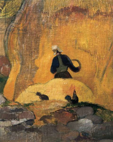 The yellow millstones or The Blonde Harvest (detail) 1889 (oil on canvas)
