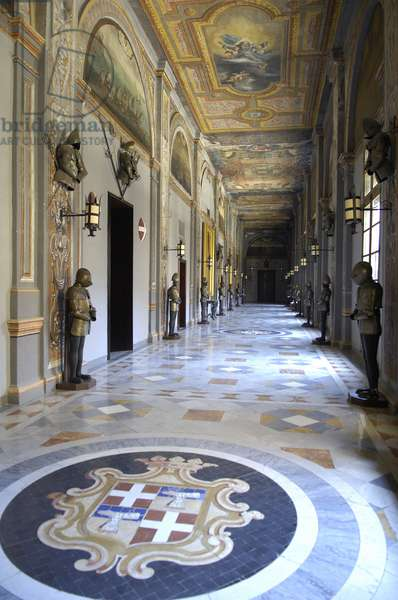 Architecture: view of the Palace of the Grand Masters of the Order of Malta in Valletta (La Valletta), Malta (photo)