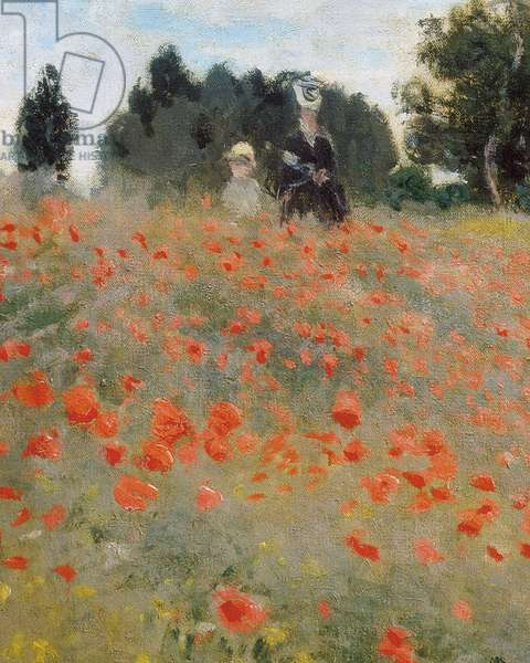 Poppies, surroundings of Argenteuil (detail). Painting by Claude Monet (1840-1926), 1873. French Impressionism. Oil on canvas.