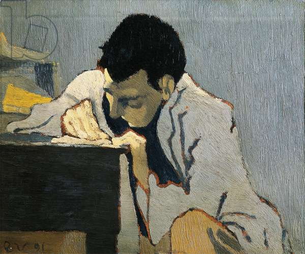 Portrait of Aurelien Lugne-Poe. Peinture de Edouard VUILLARD (1868-1940), 1891 (oil on canvas)