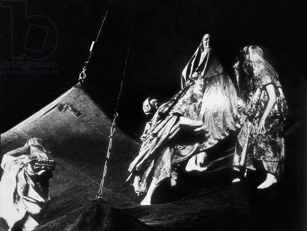 "Representation of the piece """" Yerma """" by poet and playwright Federico Garcia Lorca (1898-1936). Teatro Tivoli, 1971."