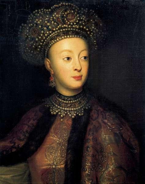 Sophia Alekseyevna of Russia (oil on canvas)