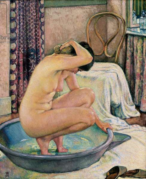 """Nude in a basin "", 1922 (oil on canvas)"