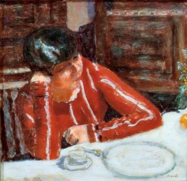 Le corsage rouge - Marthe Bonnard, 1925