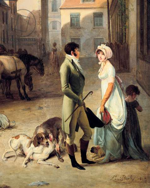 The Arrival of a Stage Coach at the Terminus, detail, 1803 (painting)