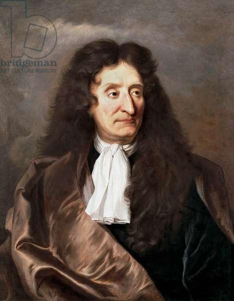Portrait of Jean de La Fontaine (Lafontaine) (1621-1695), French Poet