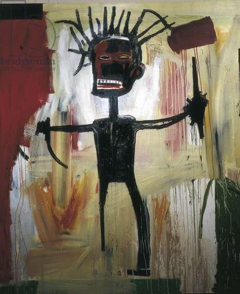 Self-portrait, central detail, 1986(acrylic)