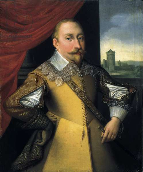 Portrait of Gustav II Adolph (oil on canvas)
