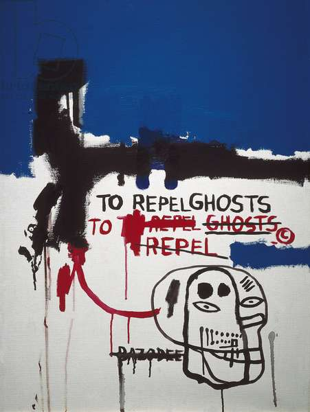""""""""""" To repel ghosts """""""" (to keep away the ghosts), 1986 (acrylic)"""