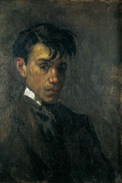 Self-portrait of the painter Picasso, 1896 (oil on canvas)